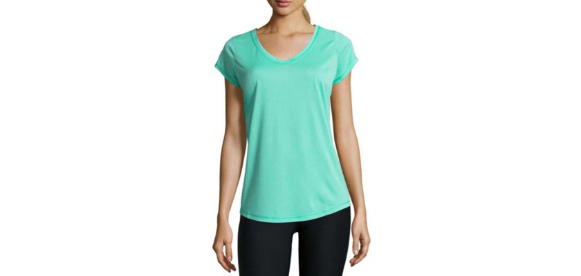 Xersion Womens V Neck Short Sleeve T-Shirt Discount
