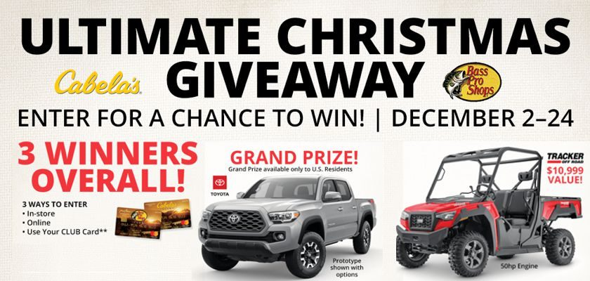 Bass Pro Shops and Cabela's Ultimate Christmas Giveaway