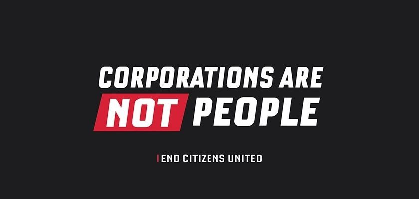 Free Corporations Are Not People Sticker