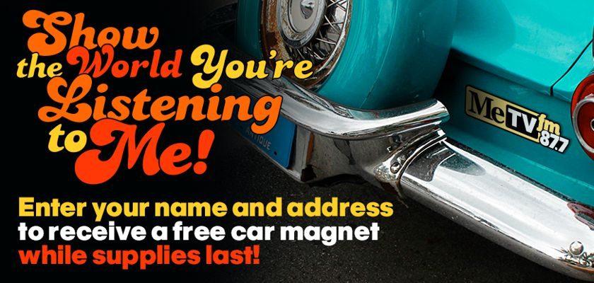 Free MeTVFM Car Magnet