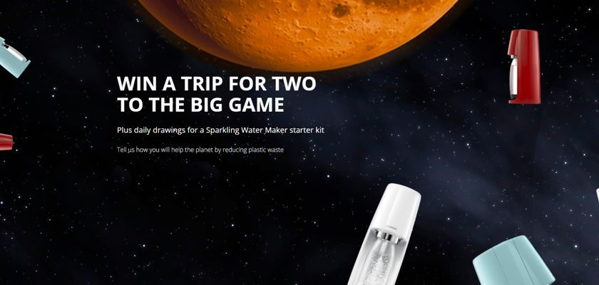 SodaStream the Big Football Game Campaign Giveaway