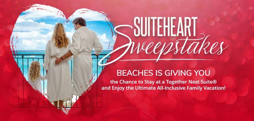 Beaches Valentine's Suitehart Sweepstakes