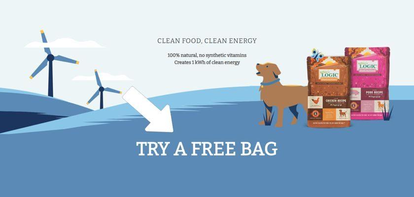 Bag of Nature's Logic Dog Food