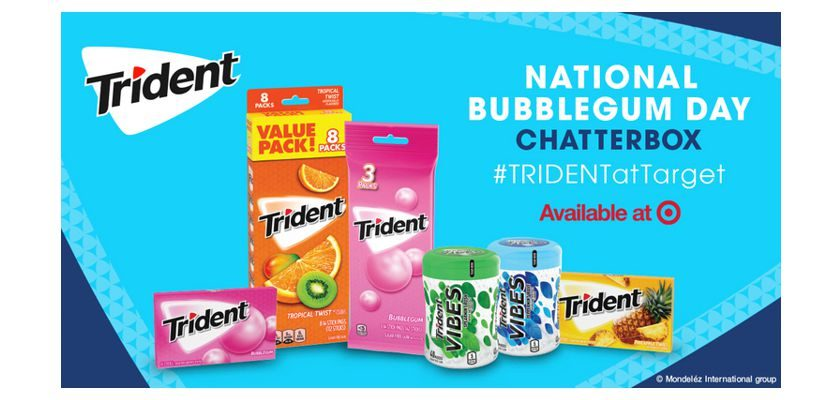 Free Trident National Bubblegum Day at Target Chatterbox Kit