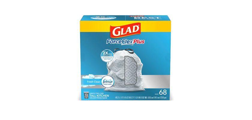 Glad ForceFlex 13 Gallon Drawstring Trash Bags
