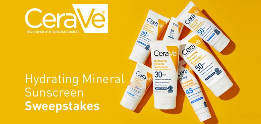 CeraVe 'Hydrating Mineral Sunscreen' Sweepstakes