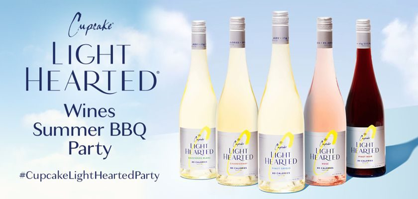 Free Cupcake LightHearted Wines Summer BBQ Party Kit