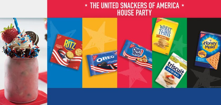 Free Nabisco Snacks The United Snackers of America House Party Kit