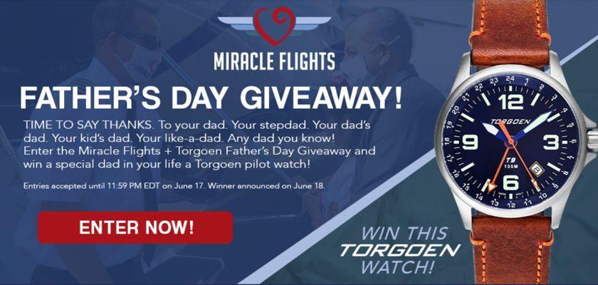 Miracle Flights Torgoen Pilot Watch Giveaway
