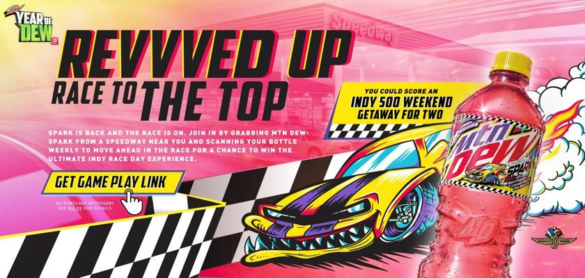 Pepsi Mtn Dew Revvved Up Race to the Top at Speedway